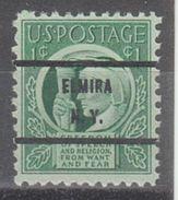 USA Precancel Vorausentwertungen Preo, Bureau New York, Elmira 908-71 - Precancels