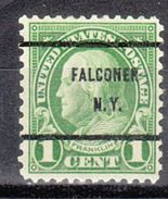 USA Precancel Vorausentwertungen Preo, Bureau New York, Falconer 632-61 - Precancels