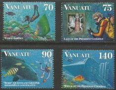 Vanuatu  - 1997 Coral Reefs Set Of 4  MNH **    SG 740-3  Sc 693-6 - Vanuatu (1980-...)