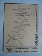 LA FERROVIA ITALIANA. LINEE STIA E AREZZO-SINALUNGA. ORARI - ITALIA, ITALY, TOSCANA, 1960. - Chemin De Fer