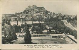 Athens - Temple De Jupiter Olympien Et L'Acropole  (002355) - Griechenland