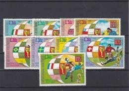 Guinea Ecuatorial 1974 World Cup FIFA Football Germany - 9 Stamps Used (H34) - Coppa Del Mondo