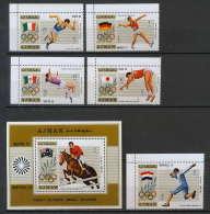 Ajman - 2602d/ 1210/1215 + Bloc N° 327 A  Jeux Olympiques (olympic Games) 1690/1976 Gold Medalist ** MNH - Verano 1972: Munich