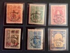 Siam 1920 Yvert Et Tellier N°152 à 157 - Siam