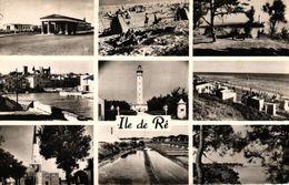 ILE DE RE -17- SABLANCEAUX LA GARE RIVEDOUX LA PLAGE LA FLOTTE LE PHARE SAINT MARTIN DE RE LE PORT SAINT CLEMENT - Ile De Ré