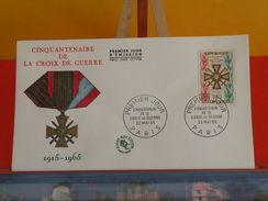 Coté 3€ > La Croix De Guerre 1915-1965 > Paris (75) > 22.5.1965 > FDC 1er Jour - 1960-1969
