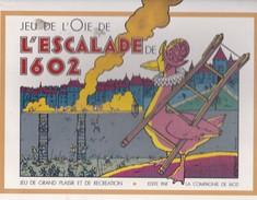 Rare Jeu De L' Oie De L' Escalade De 1602  Illustrations EXEM Fin 1989 Compagnie De 1602 Geneve - Books, Magazines, Comics
