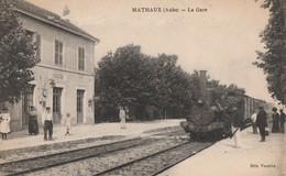 MATHAUX - LE TRAIN ARRIVE EN GARE - BELLE ANIMATION SUR LES QUAIS - TOP !!! - France