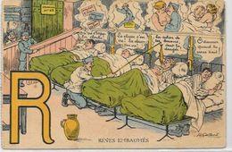 CPA Alphabet Lettre R Militaire Militaria Humour Humoristique écrite édition DD Paris - Fancy Cards