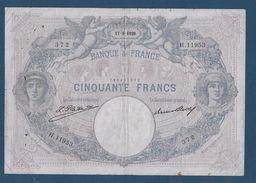 France 50 Francs Bleu Et Rose - 17-8-1926 - Fayette N° 14-39 - TB - 1871-1952 Anciens Francs Circulés Au XXème