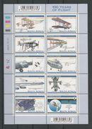 S. Africa 2003 100 Years Of Flight Sheet Y.T. 1269/1278 ** - Blocks & Sheetlets