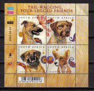 S. Africa 2003 Dogs Sheet Y.T. 1255/1258 ** - Blocks & Sheetlets