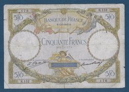 France 50 Francs Luc Olivier Merson - 12-3-1927 - Fayette N° 15-1 - TB - 50 F 1927-1934 ''Luc Olivier Merson''