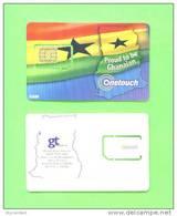 GHANA - Mint/Unused SIM Frame Phonecard With Chip/One Touch/National Flag - Ghana