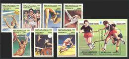NICARAGUA 1989 - OLYMPICS BARCELONA 92 - YVERT Nº A 1300-06 + HB 192** MICHEL 2959-65 + BLOCK 186 - SCOTT C1188-94+C1195 - Nicaragua