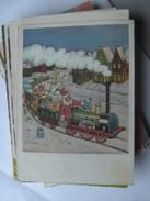 Kinderen Children Enfants Santa Claus In Train - Kindertekeningen