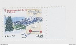 2010 - TIMBRE NEUF - Rattachement De La Savoie à La France - Traité De Turin (1860) - N° YT : 4441 - Neufs