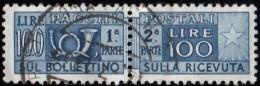 ITALY - Scott #Q84 Coat Of Arms 'Wmk. 303' (*) / Used Stamp - 6. 1946-.. Republic