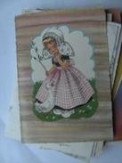 Kinderen Children Enfants Girl With Duck  Traditional Clothes - Kindertekeningen