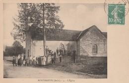 MONTMARTIN - L'EGLISE - TRES BELLE CARTE ANIMEE -  TOP !!! - Bar-sur-Seine