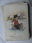 Kinderen Children Enfants Kinder Boy In Snow Traditional Clothes - Kindertekeningen