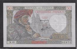 France 50 Francs Jacques Coeur - 13-6-1940 - Fayette N° 19-1 - TTB/SUP - 50 F 1940-1942 ''Jacques Coeur''