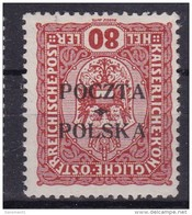 POLAND 1919 Krakow Fi 43no Mint Hinged Forgery - Unused Stamps