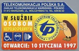 PL.- Telefoonkaart. Polen. Karte Telefoniczna. OTWARCIE: 10 STYCZNIA 1997. PROMOCYJNE CENTRUM TELEKOMUNIKACJI. 2 Scans - Polen
