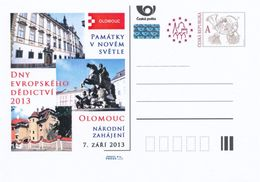 Tschech. Rep. / Ganzsachen (Pre2013/39) European Heritage Days 2013; Nation. Einweihung Olomouc (Reiter Julius Caesar) - Ferien & Tourismus