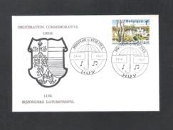 HUY - OBLITERATION COMMEMORATIVE - LIEGE - PARAPLUIE DES VEDETTES - DD. 24 - 6- 1967 - OMSLAG (D 100) - Erinnerungskarten