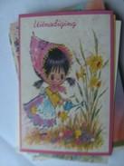 Kinderen Children Enfants Kinder Nice Girl With Flowers - Kindertekeningen