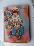 Kinderen Children Enfants Kinder Nice Girl On A Scooter - Kindertekeningen