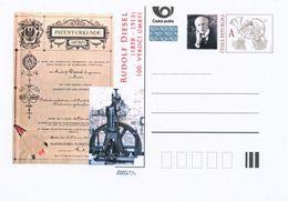 Tschech. Rep. / Ganzsachen (Pre2013/42) Rudolf Diesel (1858-1913) Deutscher Ingenieur Und Der Erfinder Des Dieselmotors - Autos