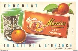 Buvard Menier Chocolat Au Lait Et à L'orange - Cocoa & Chocolat