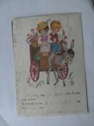 Kinderen Children Enfants Kinder Girl And Boy With Donkey - Kindertekeningen