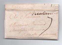 1738 - LETTRE De VALENCE (DROME) Avec MARQUE MANUSCRITE LENAIN N° 2a Pour BRIGNOLES (VAR) - Marcophilie (Lettres)