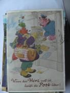Humor Postcard Wenn Das Herz Voll Ist, Läuft Die Post über - Humor