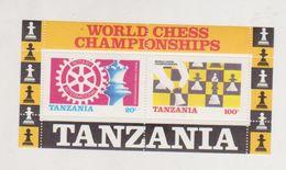 CHESS, TANZANIA, BLOC  MNH WORLD CHESS CHAMPIONSHIPS - Schaken