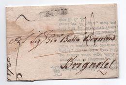 1780 - LETTRE PURIFIEE ? De MILANO Pour BRIGNOLES (VAR) Avec MP GENOVE (?) - Italie