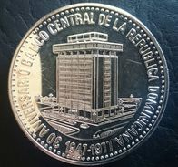 """DOMINICAN REPUBLIC 30 PESOS 1977 SILVER PROOF""""30th Anniversary Of Central Bank"""" Free Shipping Via Registered Air Mail - Dominicana"""