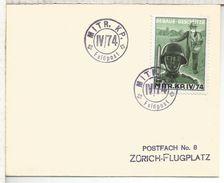SUIZA FELDPOST CORREO MILITAR MOT MITR KP IV/74 SOLDADO SOLDIER AGRICULTURA SIEMBRA SEED - Agricultura