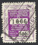Belgium, Revenue, Insurance 7.50 F. Used, St. Gilles - Revenue Stamps