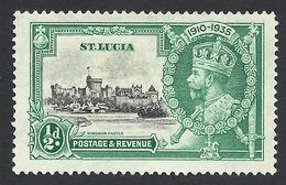 St. Lucia, 1/2 P. 1935,  Sc # 91, Mi # 80, MH - Ste Lucie (...-1978)
