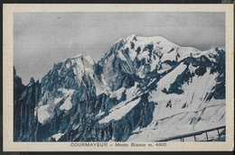 VAL D'AOSTA - COURMAYEUR - MONTE BIANCO - B/N ANNI '30 PICCOLO FORMATO - EDIZ. ALARIA - VIAGGIATA 1935 - Italy