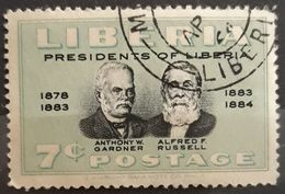 LIBERIA 1950 Liberian Presidents. USADO - USED. - Liberia