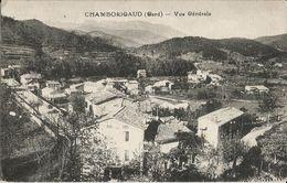 CPA - CHAMBORIGAUD- VUE GENERALE -DEUX TIMBRES 10C TYPE BLANC OBLIT. 1933 - Chamborigaud
