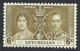 Seychelles, 6 C. 1937, Sc # 122, Mi # 118, MH. - Seychelles (...-1976)