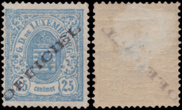 Luxembourg SV 0018*  25c Bleu  H - Dienstpost