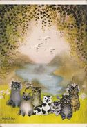 CPSM - Chat - Chats - Chatons - Illustrateur Winckler - Chats Devant Un Fiord - 208 - Cats