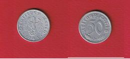 50 Reichspfennig 1943 D  --  état  TTB - [ 4] 1933-1945 : Third Reich